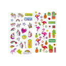 wholesale Piercing / Tattoo: stickers flamingo/unicorn, 2 times assorted , ...