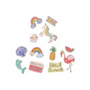 wholesale Piercing / Tattoo: trendy stickers for fabrics, 15x11cm