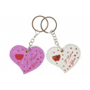 key chain notebook heart, 6x5x0,5cm
