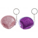 key chain glitter purse, 7x6cm