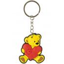 llavero oso con corazón, 4,5x5cm