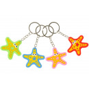 key chain starfish, 4,5x5cm