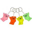 key chain fluo bear, 4,5x6cm