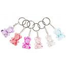 key chain bear diamond transp large, bear 4cm