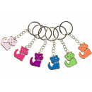 key chain silver cat, 2,5x3cm