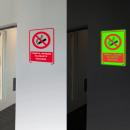 grossiste Mallettes, boites à outils et kits: Panneau phosphorescent avec interdiction ...