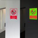 groothandel Tuin & Doe het zelf: Phosphorescent indicator verbood roken en vuur s