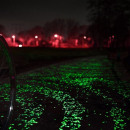 Decorative glowing green glow stones green package