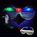 Shutterbrille mit 3 farbigen LEDs für Partys