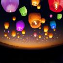 Großhandel Windlichter & Laternen: Klassische bunte orangefarbene Laternen