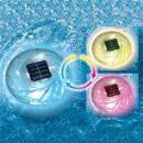 Flotador solar led rgb para piscina, dual power,