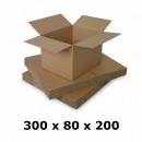 Carton box 300x80x200, natur, 3 co3 starts, 435 g