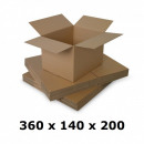 hurtownia Wszystko dla firmy: Pudełko kartonowe 360x140x200, naturalne, uruchami