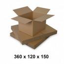 mayorista Mobiliario y accesorios oficina y comercio: Caja de cartón 360x120x150, natur, 3 co3 ...