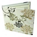 Gehäuse 4 CD DVD schwarz / weiß, weiße Blumendesig