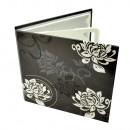 Gehäuse 4 CD DVD schwarz / weiß, florales Design b
