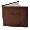 wholesale Consumer Electronics: Case 4 cd dvd wax, eco leather, brown crown patter