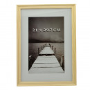 wholesale Pictures & Frames: Gerad photo frame, wooden, format a4 natural color