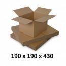 Karton 190x190x430, naturfarben, 3 co3-Starts, 435