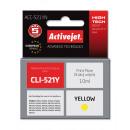 Großhandel Stifte & Schreibgeräte: Kompatible kassette cli-521 yellow für canon, 10