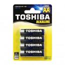 Großhandel Consumer Electronics: Set 4 Toshiba-Batterien 1,5 V AA, Alkaline