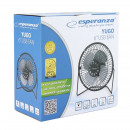 Desk fan with usb cable, black color esperanza