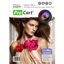 Photo paper a4, selfadhesive, metallic effect, pea