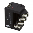 wholesale Computer & Telecommunications: Hub 4 ports usb 2.0, led control, adjustable posit