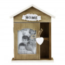 Picture frame home, 10x15, key holder, wood, 19x6x