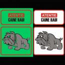 grossiste Fournitures pour animaux de compagnie: Signe phosphorescent mauvais chien