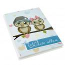 Großhandel KFZ-Zubehör: Fotoalbum mit zwei Eulen, 10x15 cm, 18 weiße Blätt