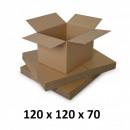 Carton box 120x120x70, natural, 5 co5 ...