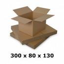 Carton box 300x80x130, natural, 5 co5 coats, 690 g