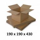 wholesale Business Equipment: Carton box 190x190x430, natural, 5 co5 ...