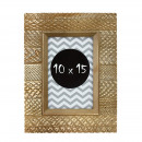 wholesale Pictures & Frames: Photo frame agnes 10x15 wood textured brown color