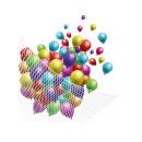 mayorista Deporte y ocio: Red blanca para lanzamiento de globos, capacidad 2