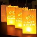 mayorista Articulos de fiesta: Lámpara decorativa patrón Happy Birthday , 5 pieza