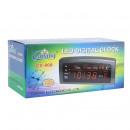 Reloj digital LED rojo, fecha, alarma, temperatura