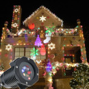 12w outdoor light projector, 12 figurines, rotary