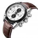 Großhandel Armbanduhren: Herrenuhr, Chronograph, Kalender, Lederband,