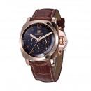 Großhandel Armbanduhren: Gold der Männer, lässig, Kalender, Ledergürtel, br