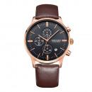 Großhandel Armbanduhren: Quarzuhr für Herren, klassisch, Gold, phosphoreszi