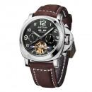 Großhandel Armbanduhren: Lässige Herrenuhr, mechanisch, Kalender, Phosphor
