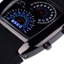 Reloj manual con esfera automática Led azul blanco