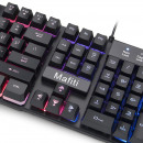 wholesale Car accessories: Keyboard and mouse gaming kit, illuminated 7 color