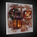 LED-Laterne, 30x30 cm, Leinwand