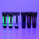 Kit Make-up Neon UV Halloween mit Kunstblut, hor