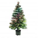Weihnachtsmehrfarbiger Weihnachtsbaum, Faseroptik