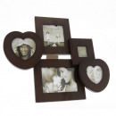 wholesale Pictures & Frames: Multiple timber photo frame, 5 photos, vintage, wa