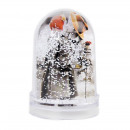 wholesale Snow Globes: Customizable photo globe, 2 photos 5x9 cm, snowfla